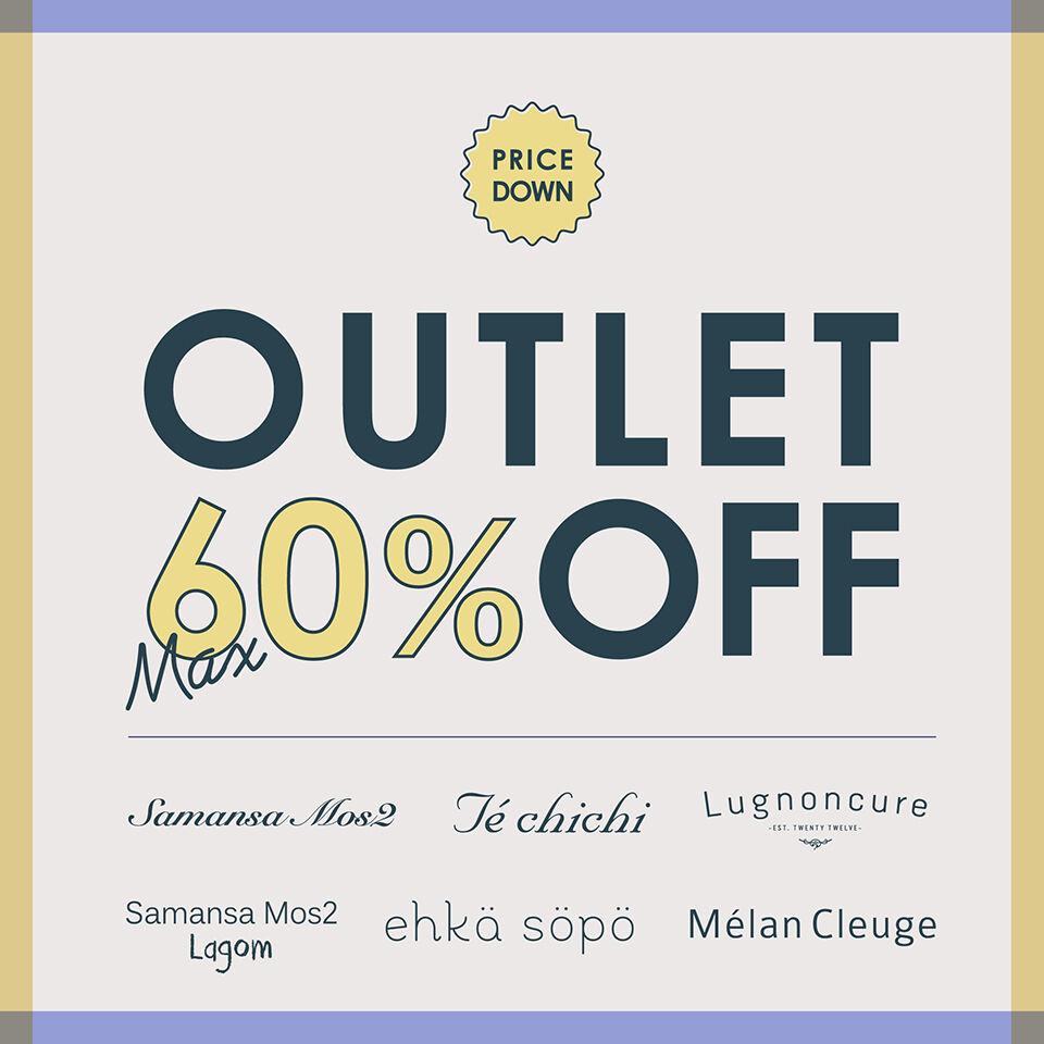 OUTLET60%OFF