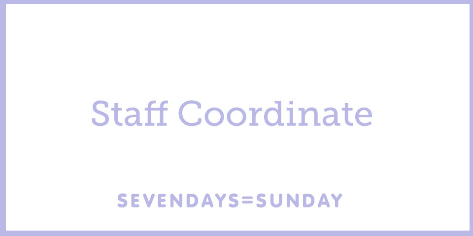Staff コーデ