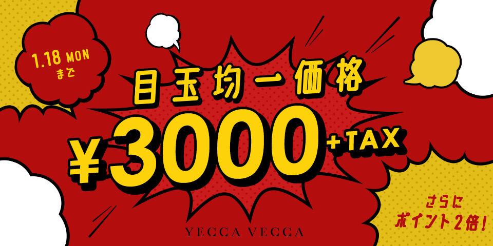 【YCVC】爆発セール3000円均一